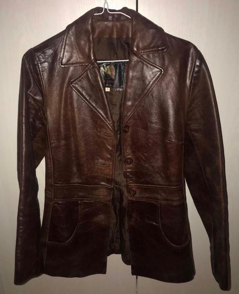 Genuine Vintage Leather Jacket (UK 8)