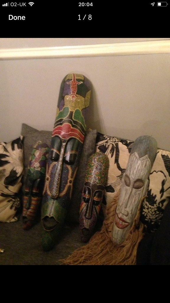 Tribal masks and statues