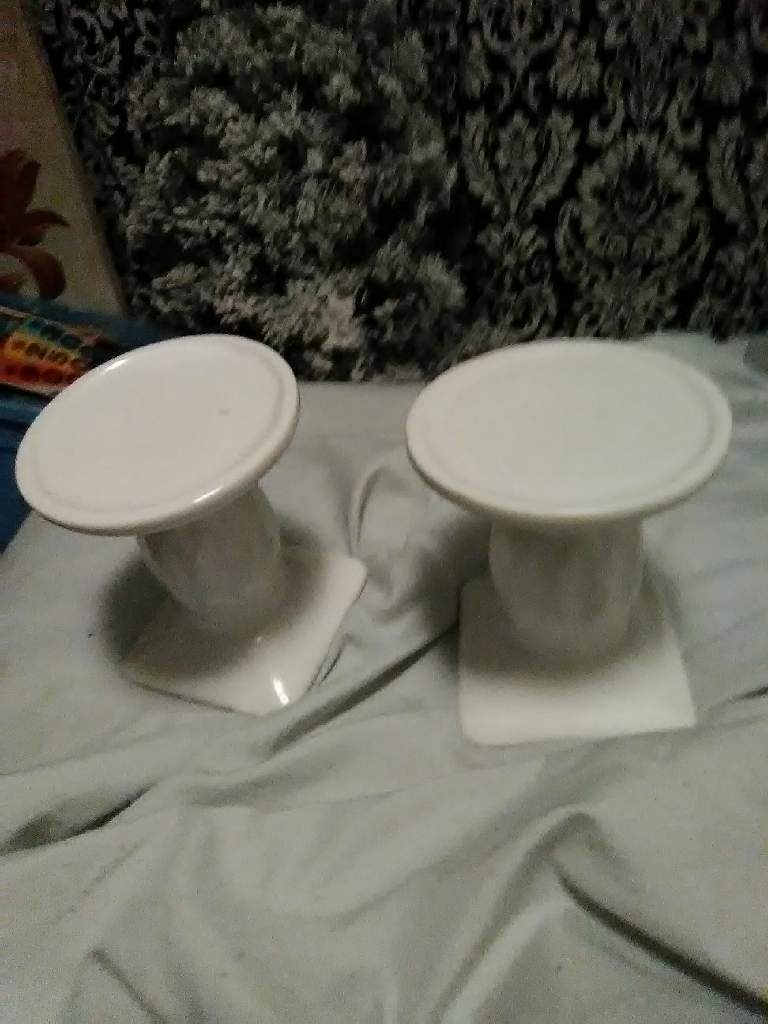 Shabby chic candle holders