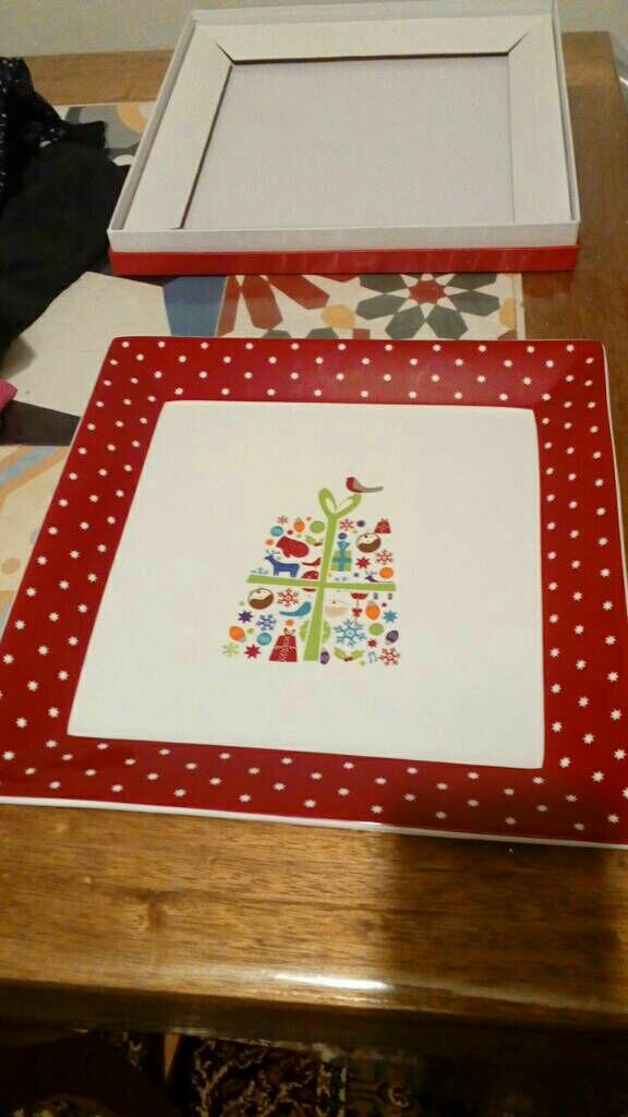 Christmas platter plate from John Lewis