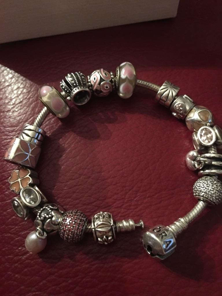 Genuine Pandora Bracelet With 15 Charms