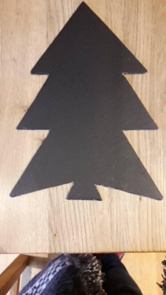 Handmade Slate Christmas Tree
