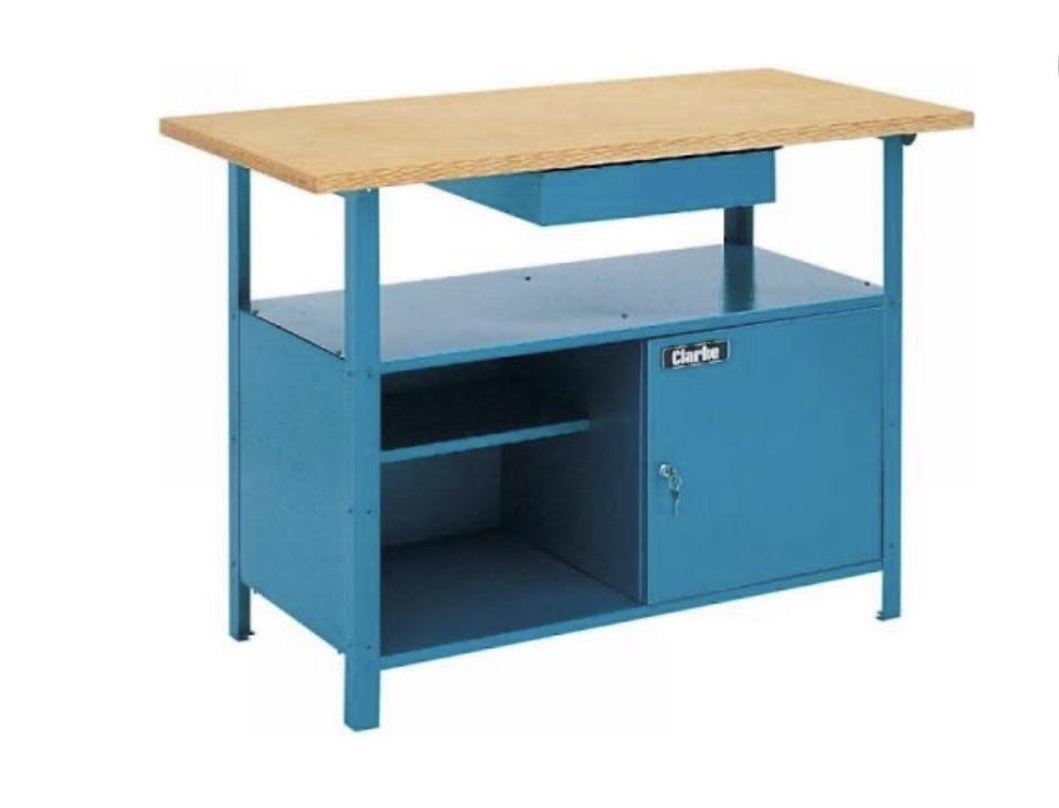Clarke workbench & wall cabinet