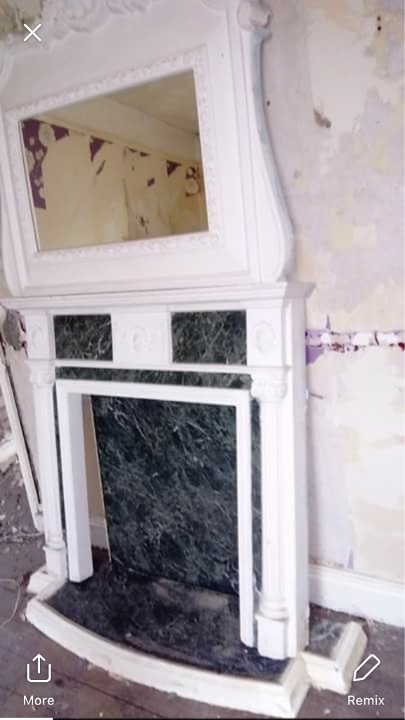 Fire surround and mirror