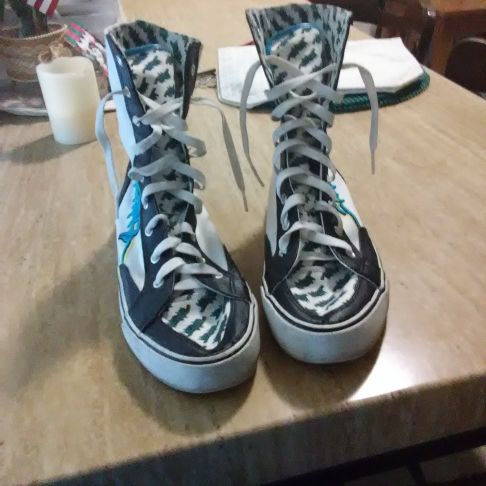 Tall high top sneakers