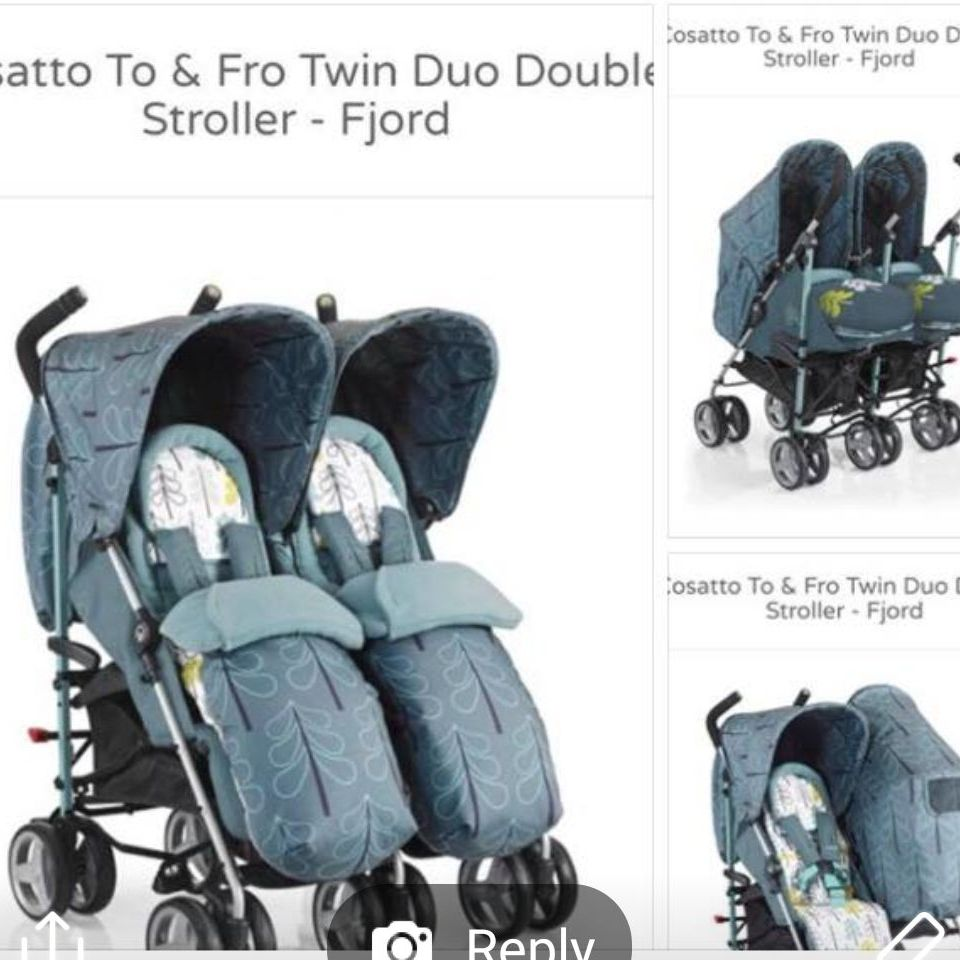 To fro cosatto twin pushchair