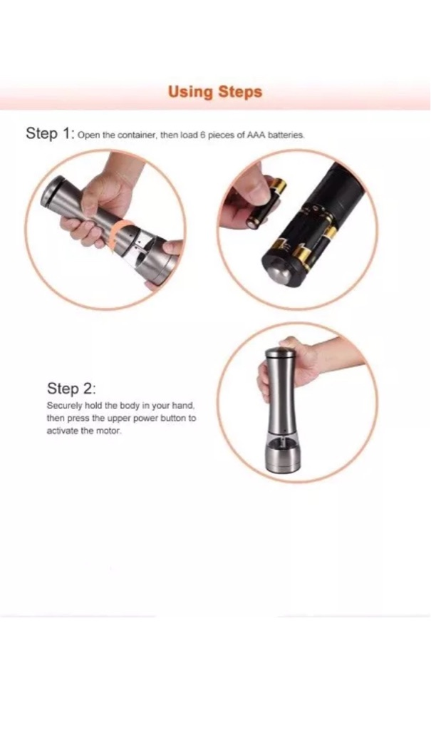 Automatic- Electric Salt and Pepper Mill Grinder  - With Led