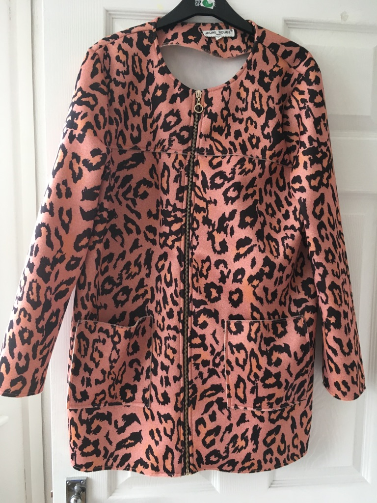 Animal print light coat