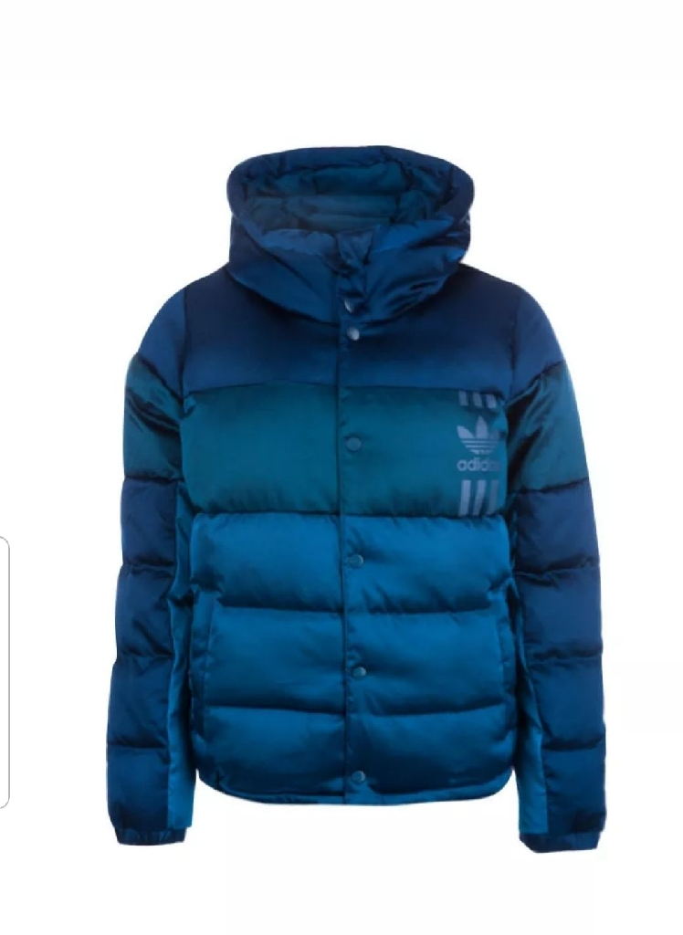Adidas originals womens ID96 jacket hooded puffer coat blue