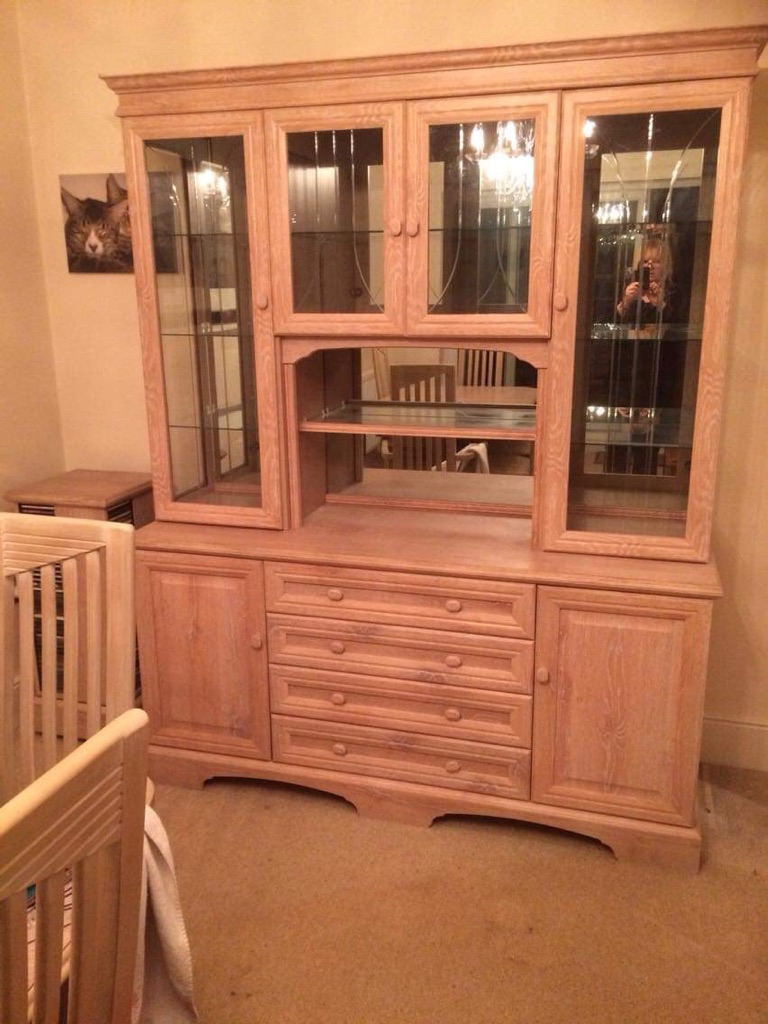 Limed oak Welsh dresser