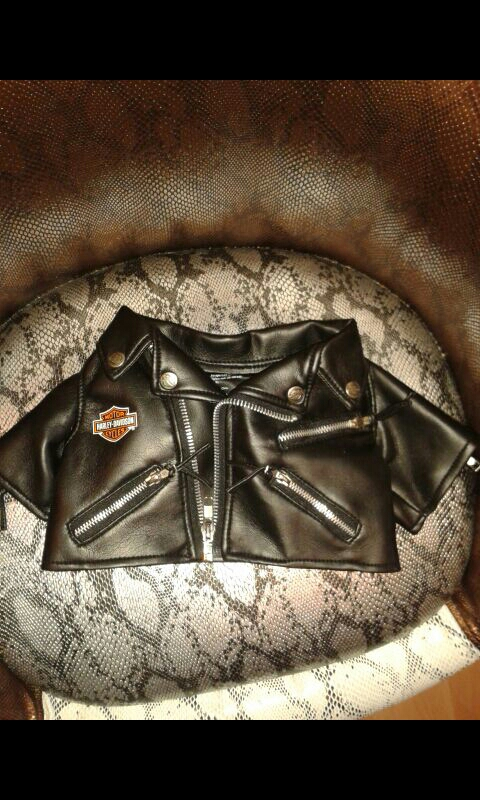 Harley Davidson teddy bear jacket