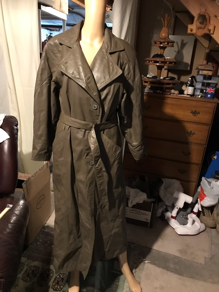 Vintage Bagatelle by Margaret Godfrey Leather Trench Coat