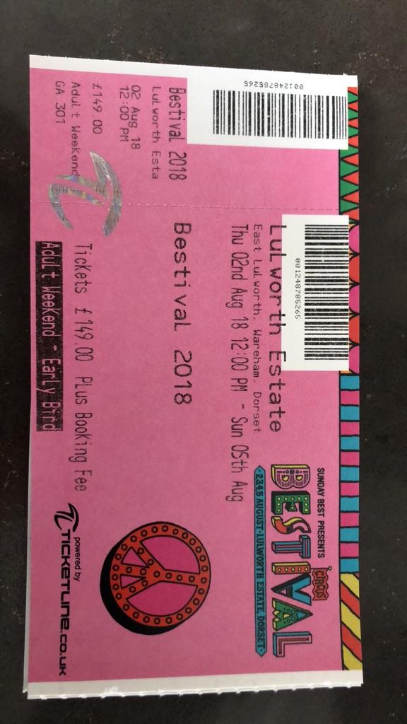 Bestival ticket