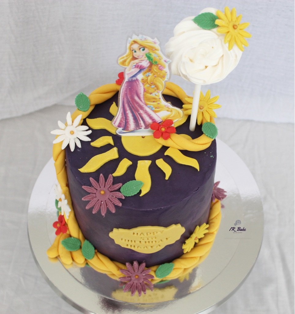 Elsa and Rapunzel birthday cake.