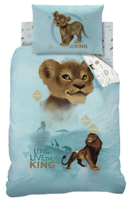 DISNEY THE LION KING DUVET COVER SET SINGLE BED 'True' Series Limited Edition