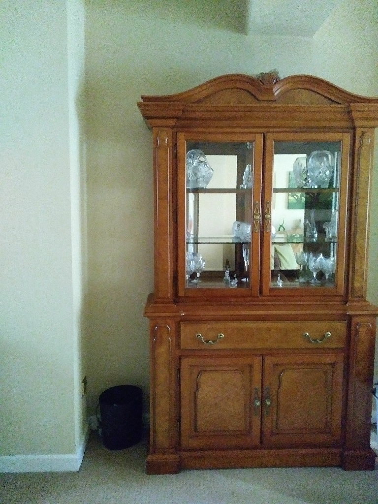 Glass Cabinet and Lamp table