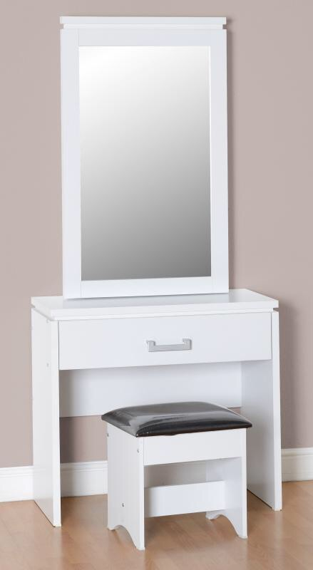 New white dressing Table with matching Stool and Mirror