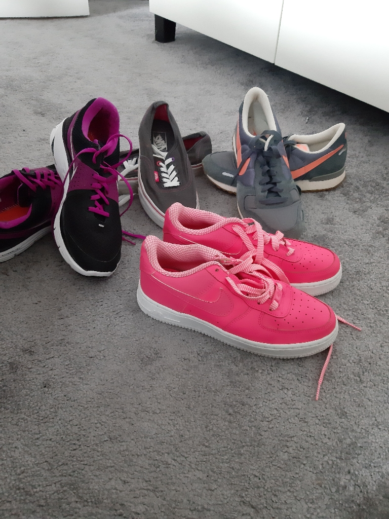 Nike and converse trainers