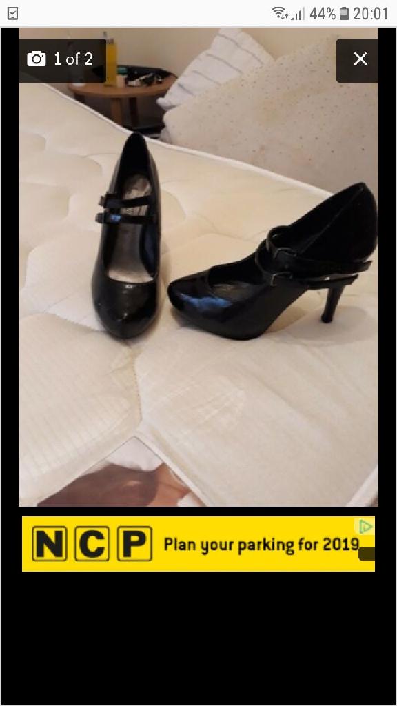 Black size 4 heels. Newlook