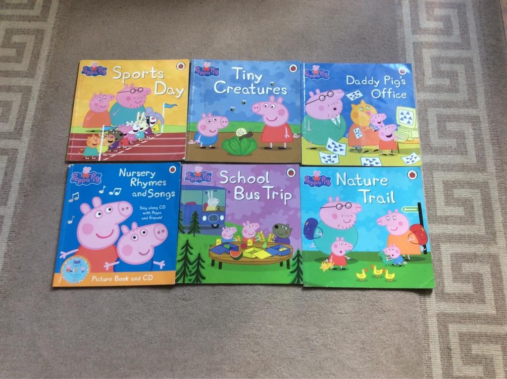 6 Peppa Pig books (paperback)