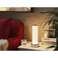 MODERN TABLE LED LAMP CRUSHED DIAMOND EFFECT CYLINDER LAMP