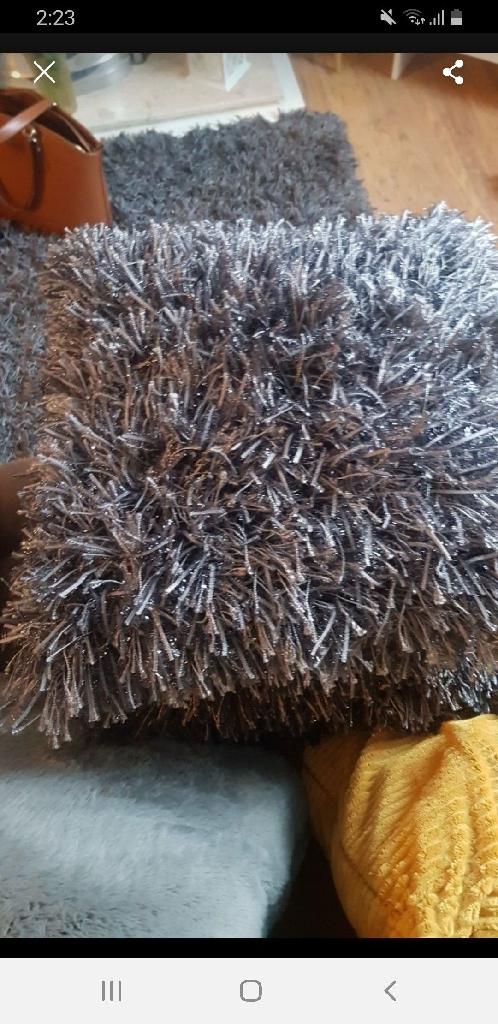 3 next  glittery cushions £30 all 3