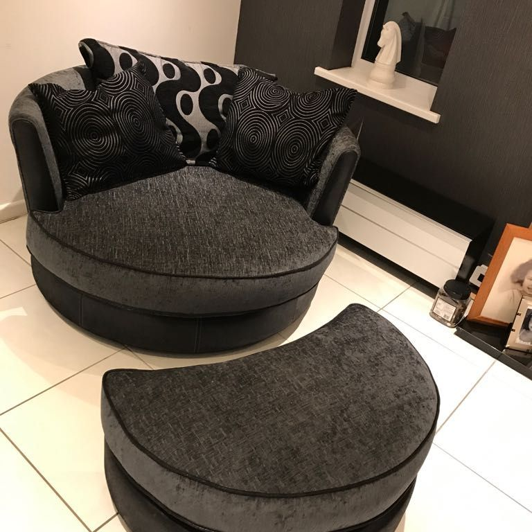 Dfs Shannon Sofa Swivel Chair And Storage Footstoolmint Condition