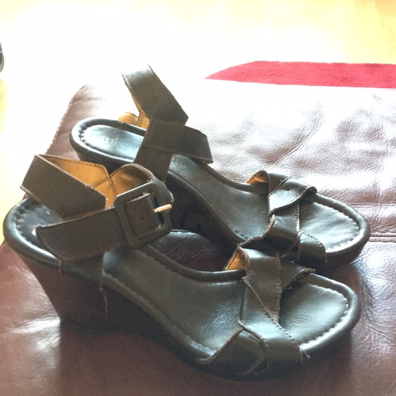 Next brown wedge sandals