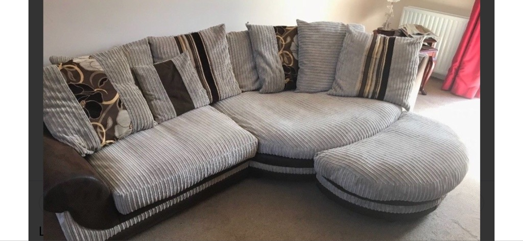Scs Cuddle Sofa Lounge Set Chair And Footstool