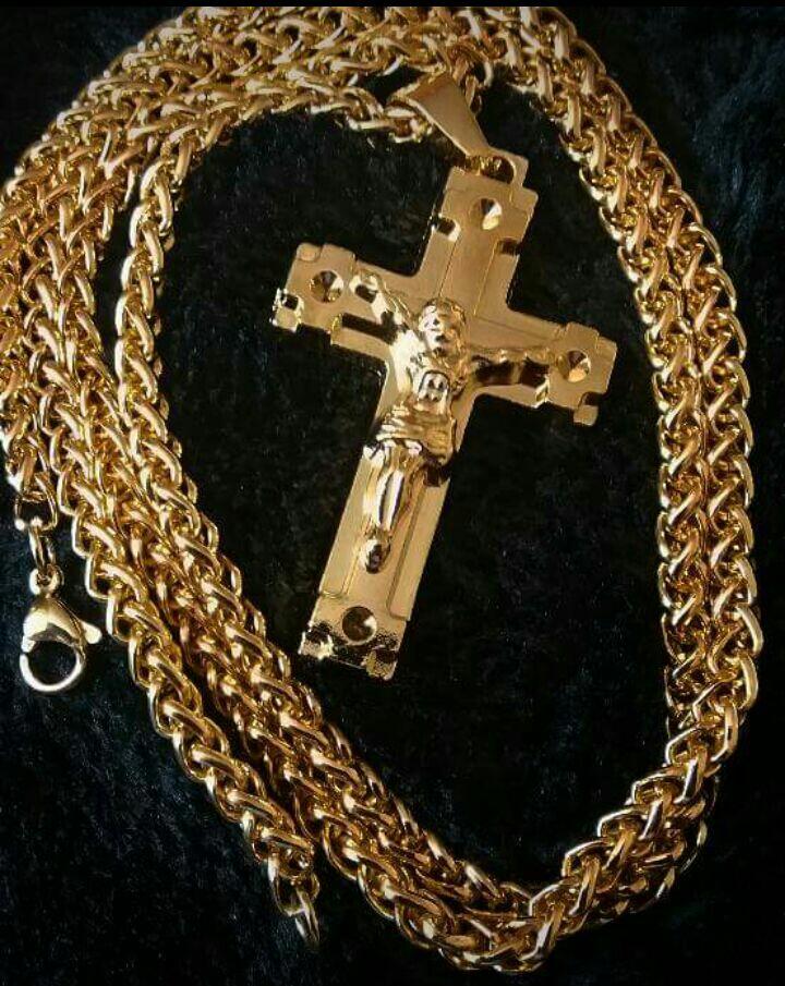 Mens cross necklace