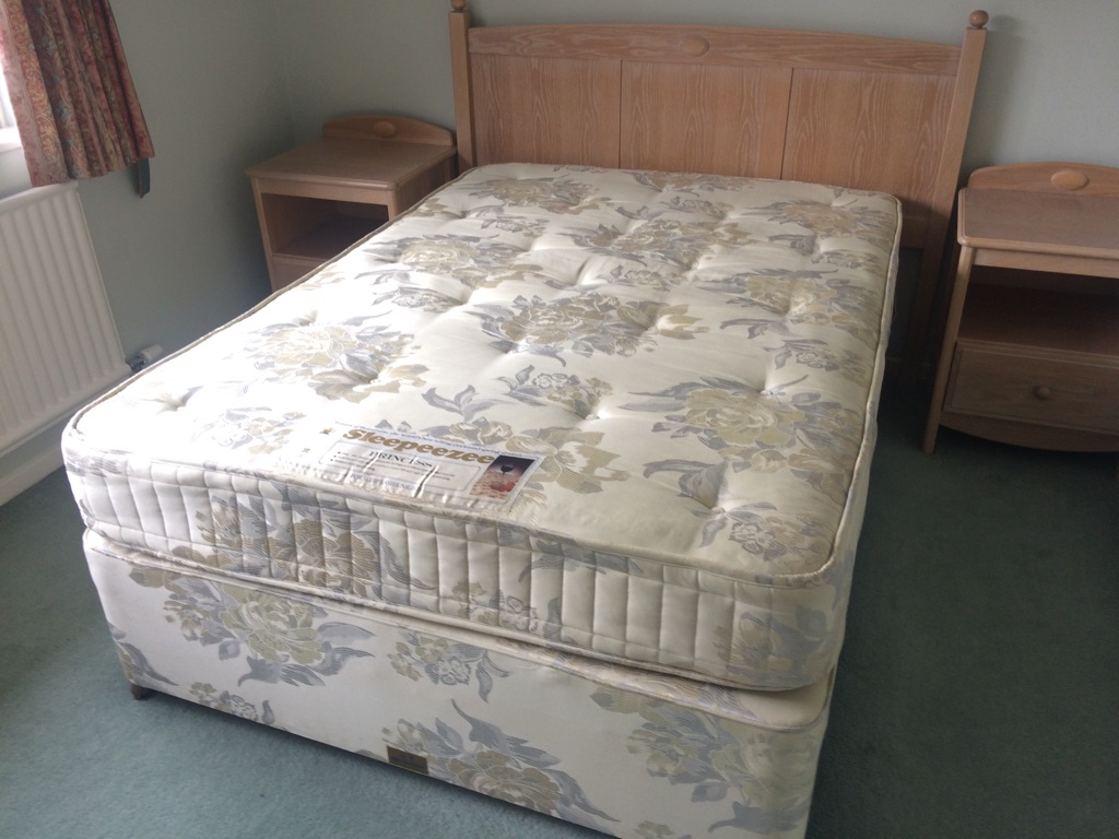 Double bed and bedroom furniture