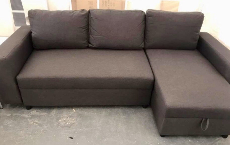 New Grey Sofa Bed Corner Setee with Storage and Chaise