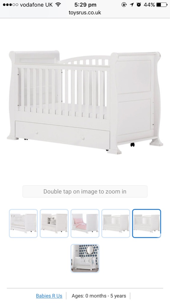 Sleigh White Toys R Us Cot Bed Village