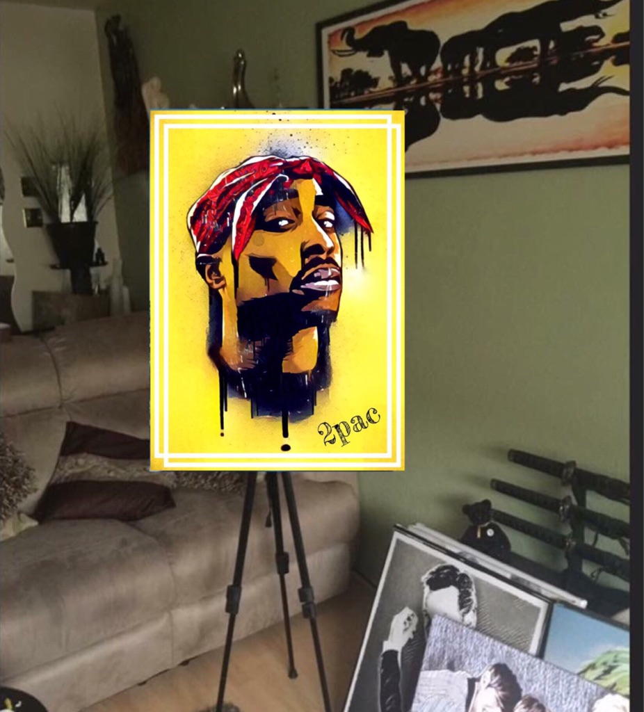 2pac Canvas print wall hanging ready to display (new)