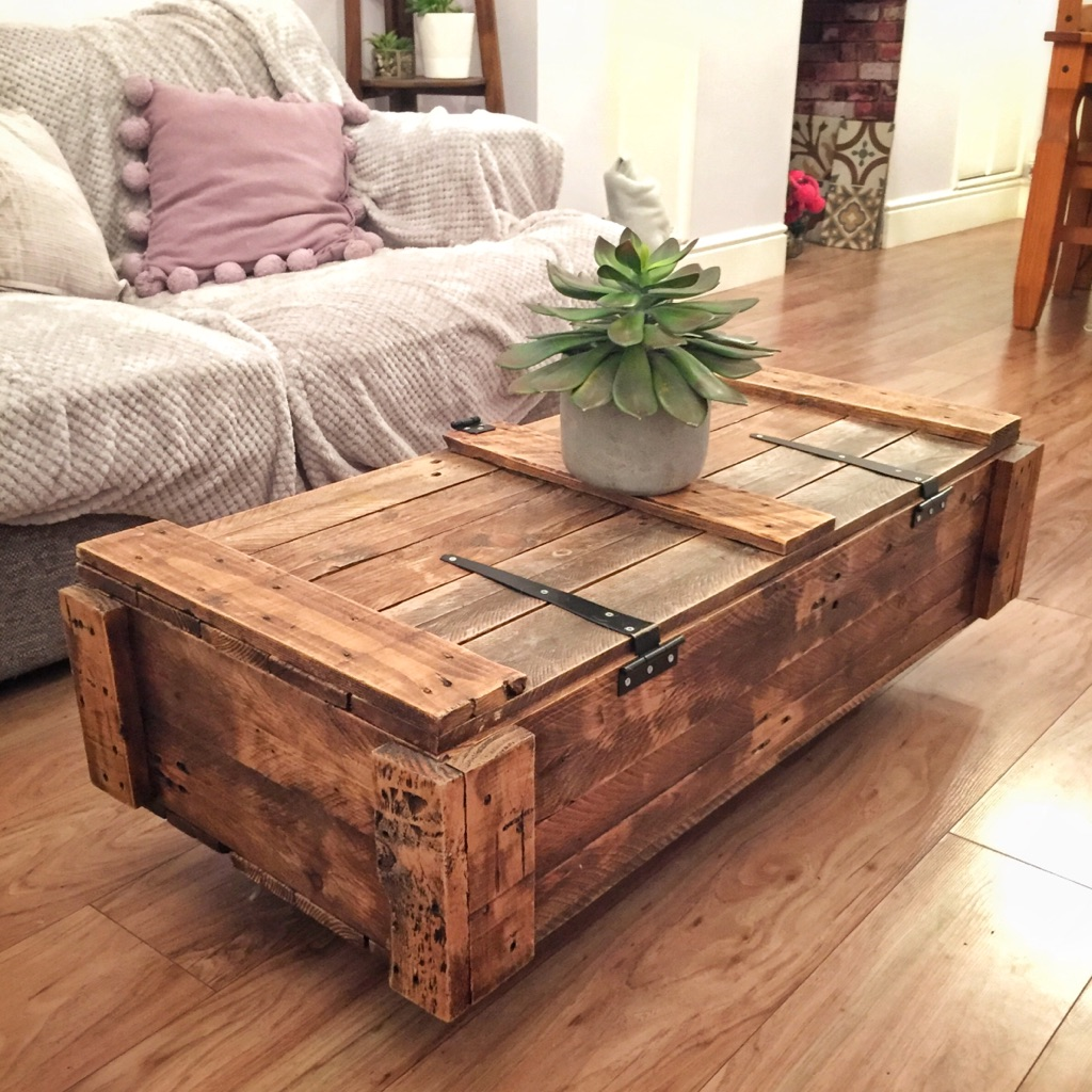 Rustic Solid Wood Coffee Table - Brand New