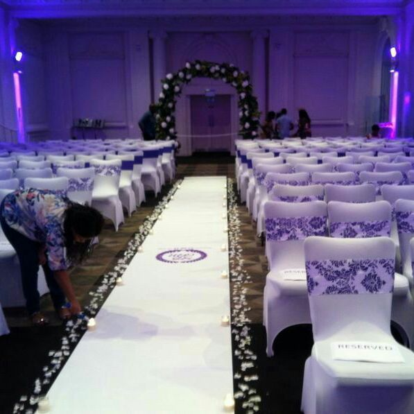 Chair & Table covers, Candelabras and Charger plates for hire