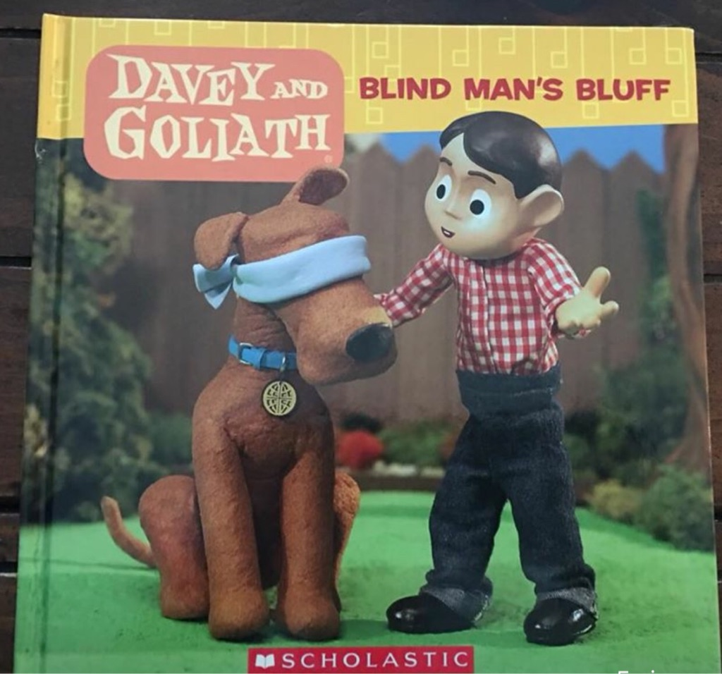 Kid's book: Dave's and Goliath, blind man's bluff