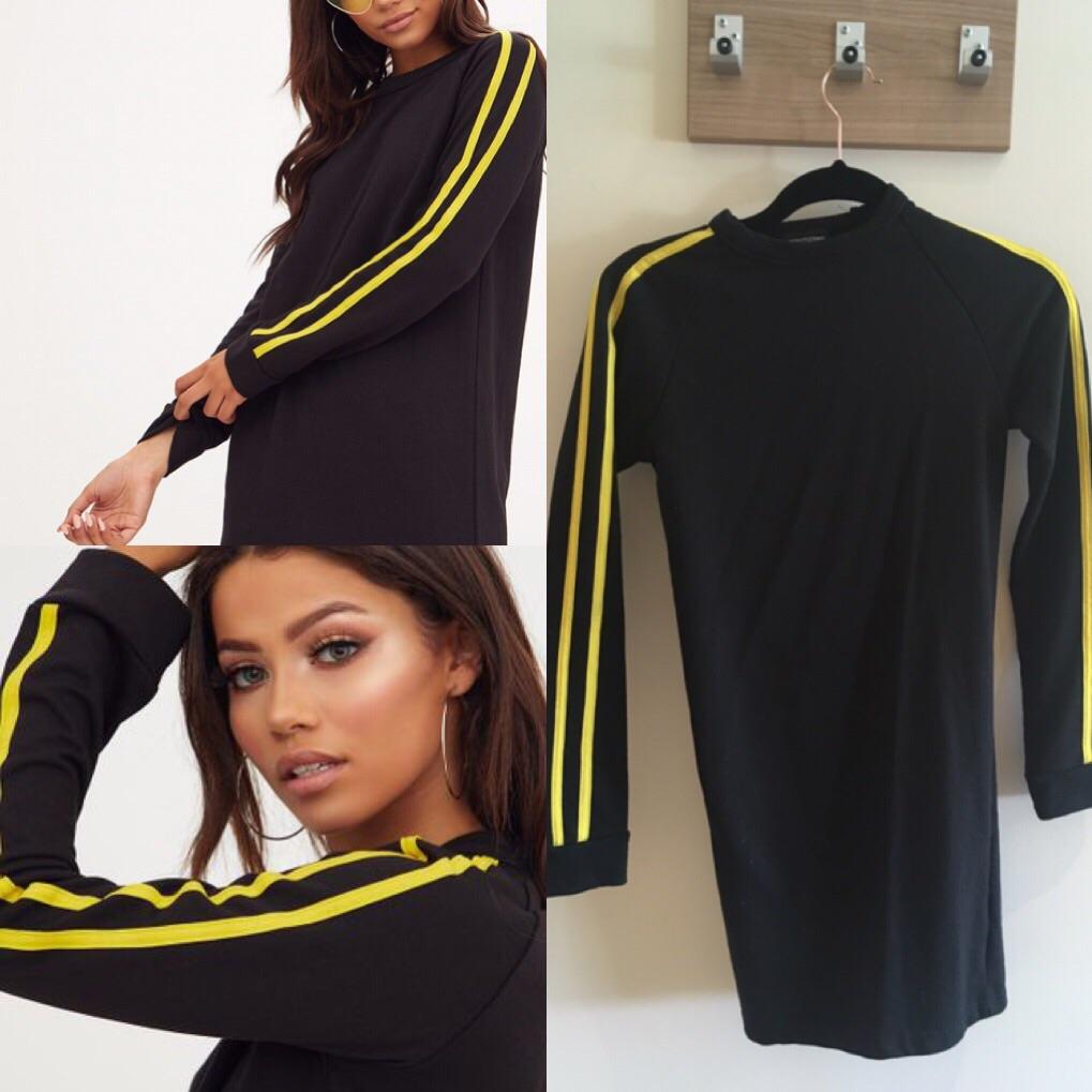 Black longsleeve sweater dress