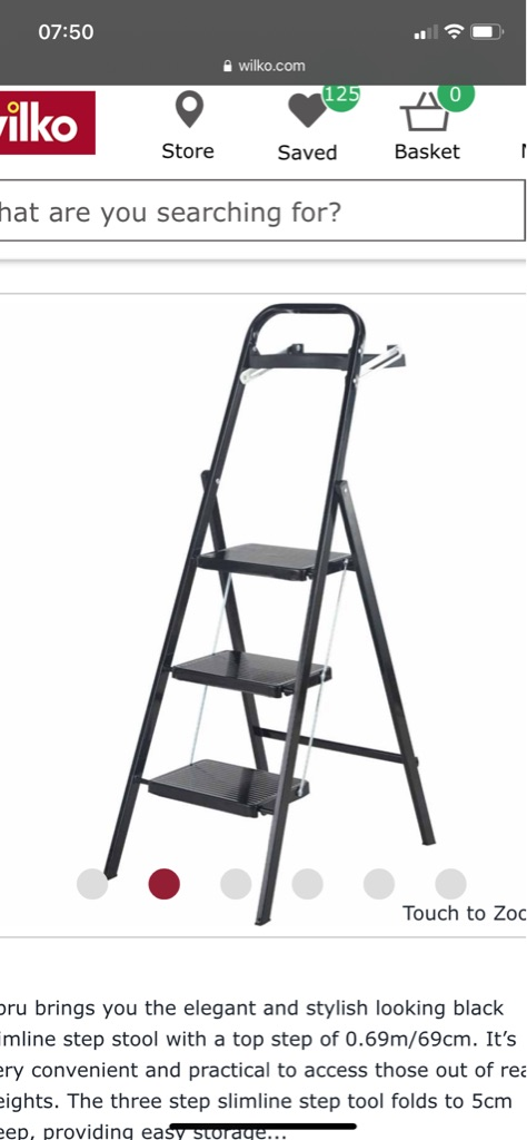 Brand new Ladders good for decorating as has shelf