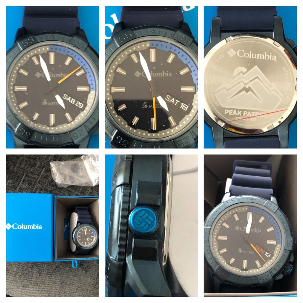 Men's Columbia Watch sports Black Or Blue New