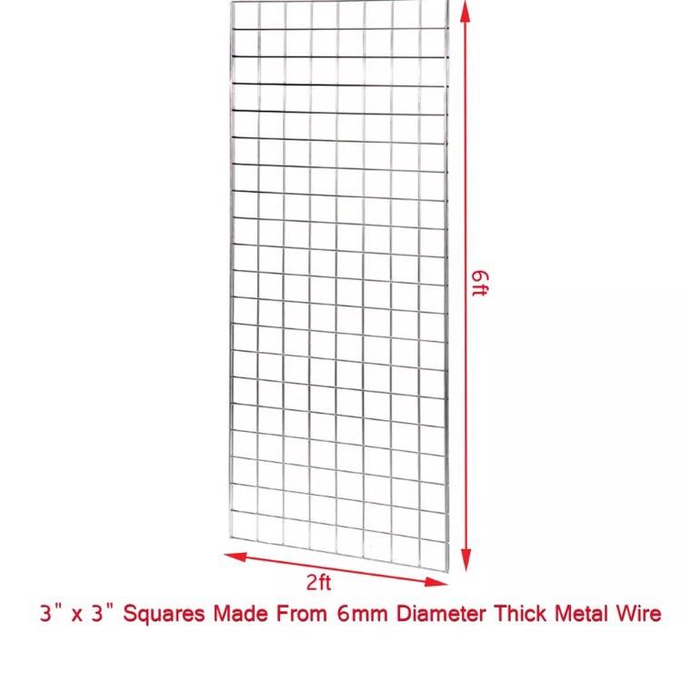 6x gridwall mesh Panels 6ft x 2ft
