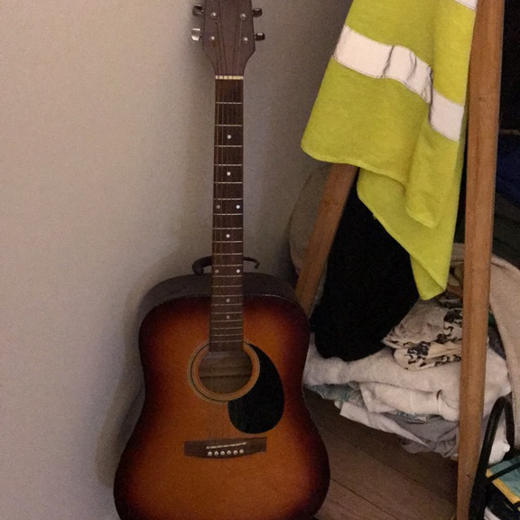 Guitar and stand