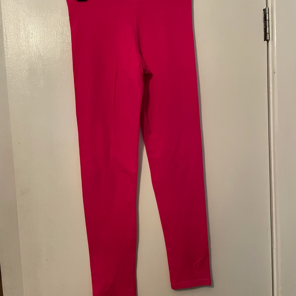 Girls summer pink leggings d as he 9-10