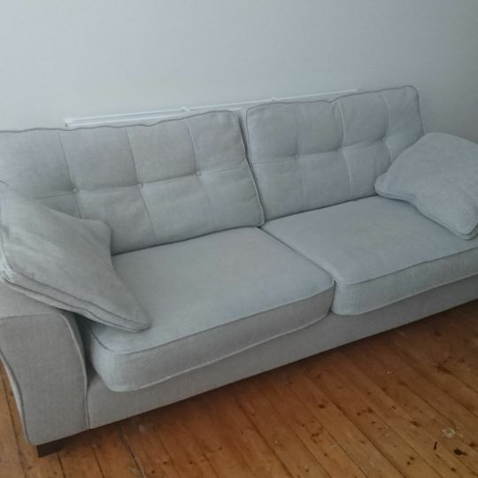 4 seater sofa with large foot stool