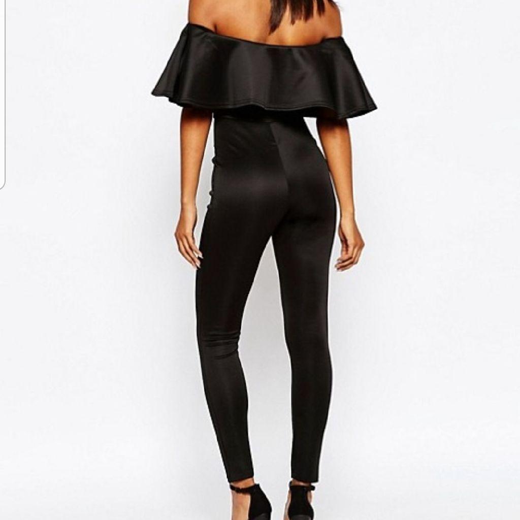 Ruffle Black Jumpsuit
