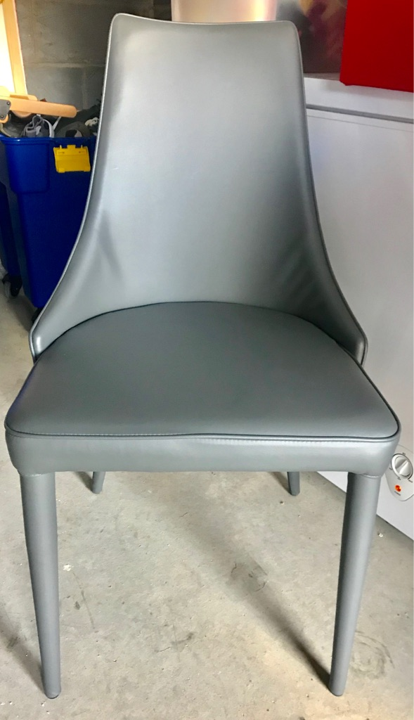 4 x grey dining chairs