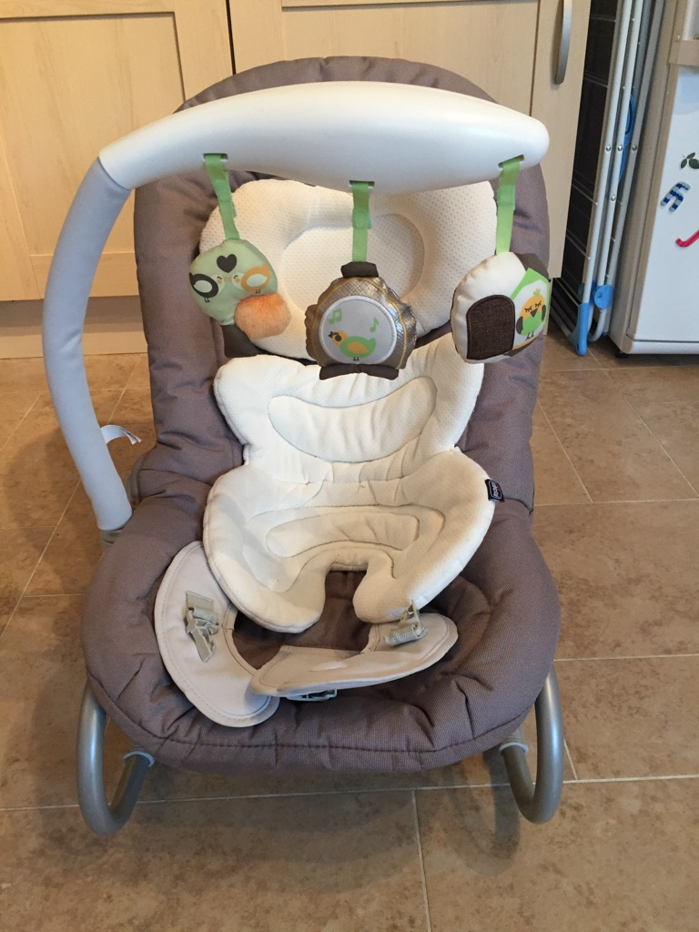 Chicco baby rocker seat and Bumbo baby seat