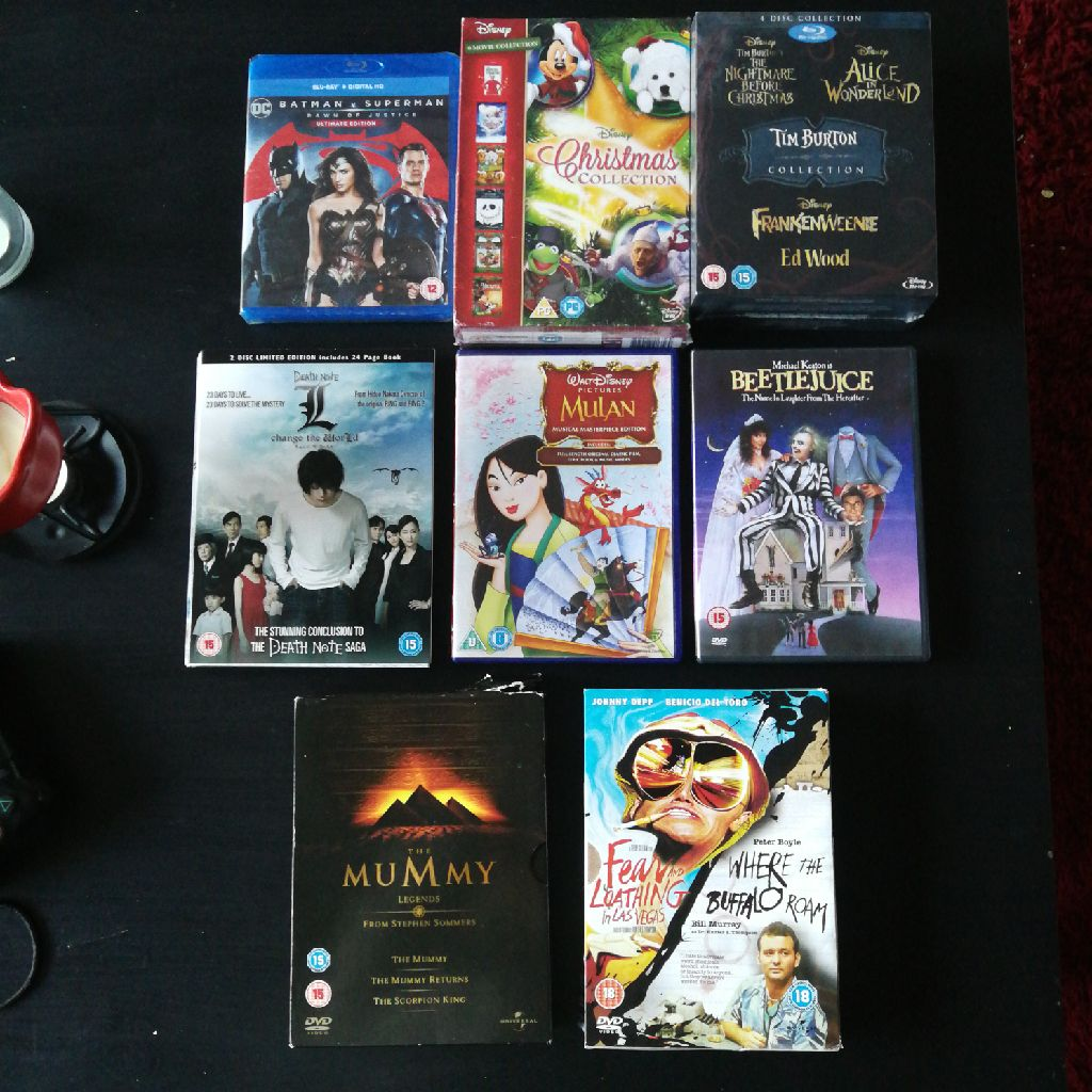 DVDs / blu rays from sale