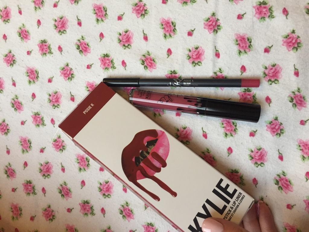 Kylie Posie mat lipstick and lip liner