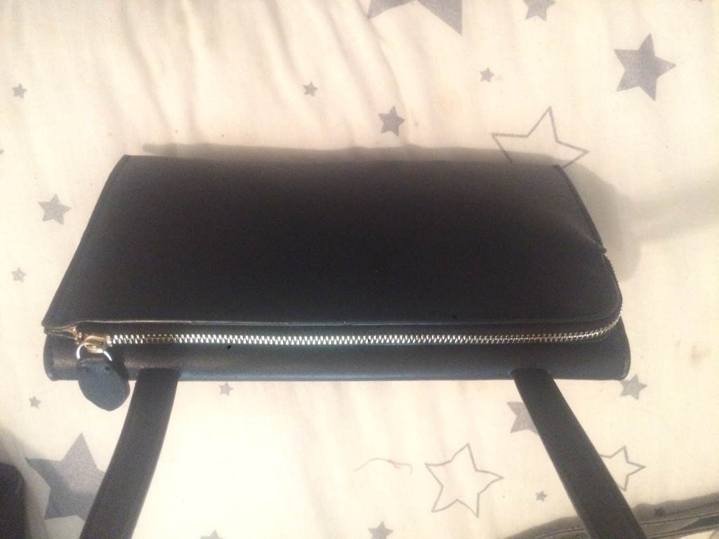 Leather warehouse small black bag with sholde strap